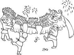 Welcome Edgy Atmosphere Of The Chinese New Year Coloring Pages