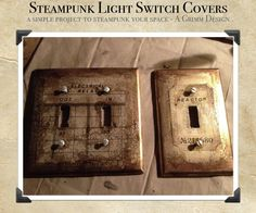 Steampunk Switch Plate Cover DIY by ~aGrimmDesign on deviantART