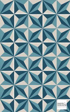 David & Goliath cement tile Alexander Blue 20x20cm