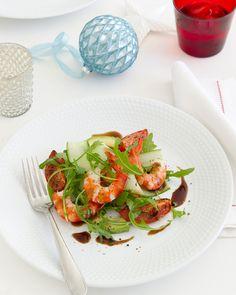 Roasted Tomato, Prawn & Avocado Salad