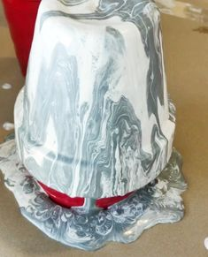 How to pour paint a pot to look like Marble. · The Glitzy Pear Marble Painting, Drip Painting, Painting Tips, Clay Pot Crafts, Shell Crafts, Diy Crafts, Adult Crafts, Garden Crafts, Home Depot Paint