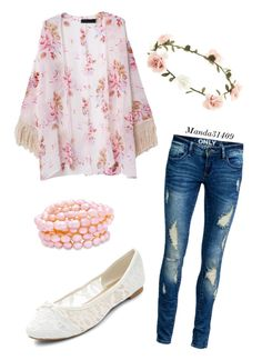 """Casual Floral"" by manda31409 ❤ liked on Polyvore featuring ONLY and Accessorize"