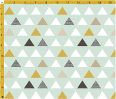 """Changing Pad Cover or Boppy Cover in """"Mod Mint Triangles"""", Design Your Own Modern Nursery Bedding Fabric Patterns, Print Patterns, Nursery Patterns, Geometric Patterns, Pattern Print, Paper Scrapbook, Palette Pastel, Toddler Sheets, Boppy Cover"""