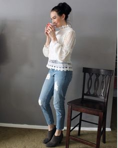 Happy Saturday everyone! Stay warm! . . . . #ootdfashion #ootd #lace #lacetop #fashion #fashionblog #fashionblogger #ootd #stylewe #casual #casualoutfit #jeans #ontheblog