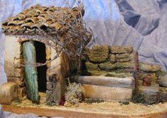 cabanon                                                                                                                                                                                 Plus Ceramic Houses, Christmas Villages, Miniature Houses, Toy Soldiers, Fairy Houses, Doll Furniture, Dollhouse Miniatures, Lion Sculpture, Wood
