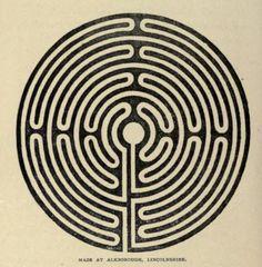 Maze at Alkborough, Lincolnshire.Ecclesiastical curiosities. 1899.