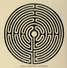 Maze at Alkborough, Lincolnshire. Ecclesiastical curiosities. 1899.