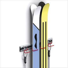 Soporte para #esquíes #aluminio #gancho #acomodar #deporte #ski #nieve #mexico #alferhausmx #organizar #garage compralo en www.alferhaus.mx