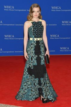 Gillian Jacobs in custom Peter Pilotto - the colours in this gown are exquisite!