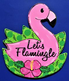 Love this for my pool deck patio beside my Tiki Bar. Backyard Bar, Deck Patio, Patio Bar, Country Wood Crafts, Tiki Bar Signs, Patio Signs, Let's Flamingle, Summer Signs, Door Plaques