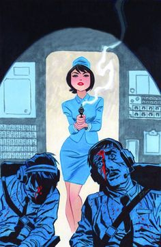 Art by Bruce Timm  Not sure what this is supposed to be (other than awesome of course) but I dig it.