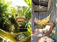 Balcony Garden hamac balcon Ma terrasse de rêve à gauche ... Hammock Swing, Outdoor Furniture, Outdoor Decor, Balcony, Architecture, Inspiration, Gauche, Oui, Home Decor