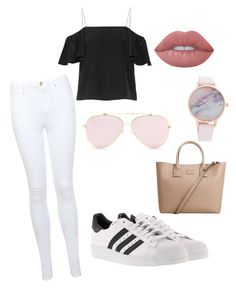 """Trip to town🖤"" by luciehardy on Polyvore featuring Fendi, Miss Selfridge, adidas, MANGO and Lime Crime"