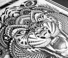 mandala lion tattoo - Google Search