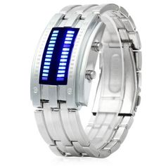 Date Binary Digital LED Bracelet Watch for Men with Two Lines LED Display-7.99 and Free Shipping| GearBest.com