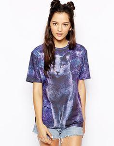Mr. Gugu  Miss Go Black Cat Kitty T-Shirt