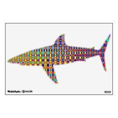 Psychedelia Shark Wall Decal