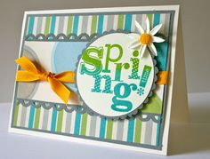Dotty For You card by Karen Pedersen, inspired by Lori Miller's card here on Pinterest.