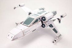 This Star Wars papercraft is a customized T-65 X-Wing Starfighter, the paper model is created by Calvin Nicholas Lin. There is also another T-65 X-wing pap