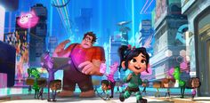 A brand new image from Walt Disney Animation Studios' Ralph Breaks the Internet: Wreck-It Ralph 2 depicts Ralph and Vanellope venturing into the internet. Disney Pixar, Cartoon Disney, Disney Films, Disney Disney, Walt Disney Pictures, Wreck It Ralph, Walt Disney Animation Studios, 2018 Movies, New Movies