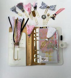 accesorios de planificador clips decorativos por DownSouthChicDecor