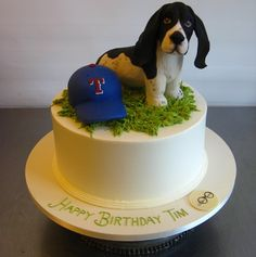 Autumn - it's a basset with a Rangers hat...
