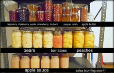 Canned Goods preserved.  Directions included.