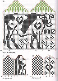 Knitting Patterns Mittens Mittens and socks from Cherdyn Fair Isle Knitting, Knitting Yarn, Hand Knitting, Knitted Mittens Pattern, Knit Mittens, Knitting Charts, Knitting Patterns, Crochet Chart, Filet Crochet