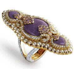 Frivolous Fabulous - Faberge Lilac Jasper and Pearls♥•♥•♥