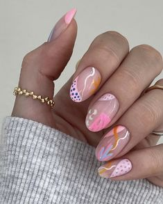 Funky Nail Art, Funky Nails, Get Nails, How To Do Nails, Manicure Y Pedicure, Acrylic Gel, Stylish Nails, Nail Inspo, Nails Inspiration