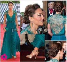 9c97e74b3196 Hot Kate Middleton Evening Dress Sexy V Neck Floor Length Celebrity Gown  See Through Back Red Carpet Pageant Dress Classic Evening Dresses Couture  Evening ...