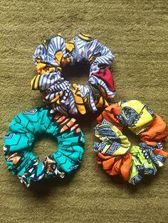 African fabric hair bands ankara scrunchies African wax hair band wax print hair accessories ankara head band - because fashion - Short Hair Accessories, African Accessories, African Jewelry, Fashion Accessories, Stem Challenge, African Crafts, African Fabric, Scrunchies, Fabric Crafts