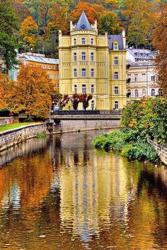 PINTEREST.COM-CZECK REPUBLIC CASTLES | Castles / Golden Karlovy Vary, Czech Republic via Flickr by Santi RF