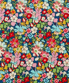 Red Lytton Cotton Craft Fabric, Liberty Art Fabrics, to recover throw pillows Motifs Textiles, Textile Patterns, Flower Patterns, Print Patterns, Design Floral, Motif Floral, Floral Prints, Art Prints, Ditsy Floral