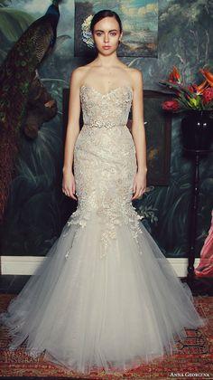anna georgina 2015 bridal strapless sweetheart neckline embroidery bodice trumpet mermaid wedding dress daniella