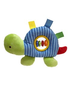 Another great find on #zulily! Blue Turtle Rattle by Linzy Toys #zulilyfinds