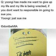 Yoongi being Yoongi.