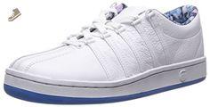 K-Swiss Women's Classic 88 Fashion Sneaker, White/French Blue, 6 M US - K swiss sneakers for women (*Amazon Partner-Link)