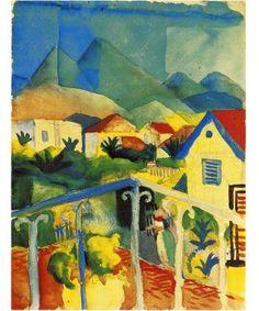 August Macke - Aquarell, Tunesienreise 1914