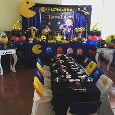 Pacman party birthday parties в 2019 г. Video Game Party, Party Games, Party Party, Ideas Party, Snacks For Work, Healthy Work Snacks, Man Birthday, Birthday Parties, Pac Man Party