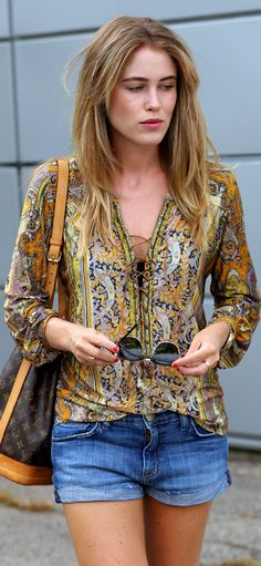 Isabel Marant Yellow Multi Lace-up Front Paisley Print Popover so adorable