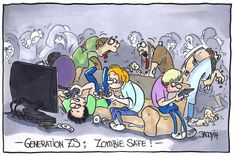 Zombie Safe. The latest generation who is safe of zombie attacks due to a lack of brains. #Zombie