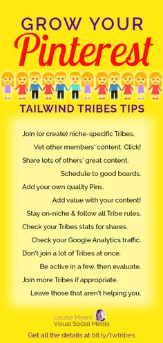 Pinterest marketing tips: Grow your reach with Tailwind Tribes! Click to blog to get the details and FREE trial. Pinterest group boards don't do much to help small business owners and bloggers any more. Try Tribes! #pinterestmarketing #pinteresttips #mark