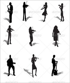 Musical Silhouettes set1  #GraphicRiver         Collection of 10 vector Musical Silhouettes can be scaled to any size without loss of resolution.     Created: 31August11 GraphicsFilesIncluded: VectorEPS #AIIllustrator Layered: Yes MinimumAdobeCSVersion: CS Tags: ai #collection #corporate #creative #design #elegant #fashion #figure #guitar #guitarist #jazz #music #musician #play #player #professional #psd #punk #realistic #rock #rockstar #silhouette #singer #stage #vector #violin #violinist…