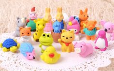 strange erasers | cute animal eraser rubber phone cartoon eraser children gift erasers ...
