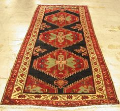 4x11 Persian Oriental Sarab Tribal Hand Knotted Wool Blue Red Green Runner Rug   eBay