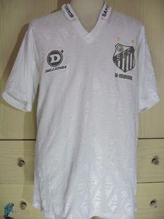 Santos 1992 1993 Brazil Dellerba Vintage Player Issue Football Jersey Shirt L | eBay