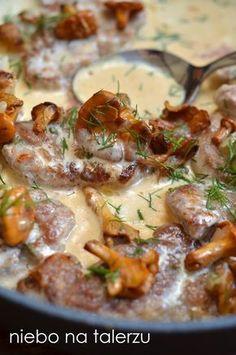 polędwiczki w sosie z kurek