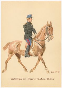 Denmark; Staff Officer of the Dragoons, Undress, c.1860