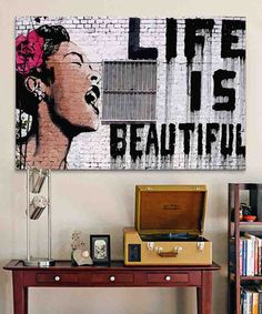 Look at this Life Is Beautiful Replica Gallery-Wrapped Canvas on #zulily today!